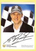 2010年 DVAG CAP ドライバーズカード(M.シューマッハ) サイン:印刷