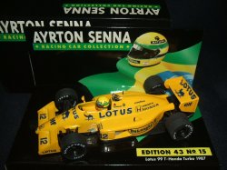 画像1: セカンドハンド品●PMA1/43 SENNA COLLECTION No15 LOTUS HONDA 99T  (A.セナ) 1987