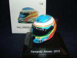 画像1: 海外並行品●McLAREN別注 SPARK1/8 McLAREN HONDA 2015 F.アロンソ ミニチュアヘルメット