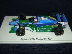 画像1: 新品正規入荷品●SPARK 1/43 BENETTON B194 MONACO GP 1994 (J.J.LEHTO) #6