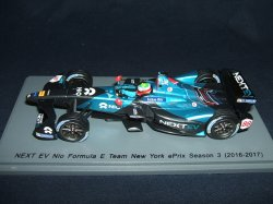 画像1: 新品正規入荷品●SPARK 1/43 FORMULA Eシリーズ NEXT EV NIO FORMULA E TEAM NEW YORK  EPRIX SEASON 3 (2016-2017) O.TURVEY #88