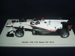 画像1: 新品正規入荷品●SPARK1/43 Sauber C29 Brazil GP 2010 (N.ハイドフェルド) #22